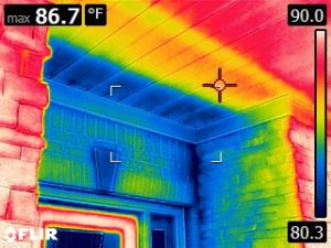 Poor insulation caught by IR camera